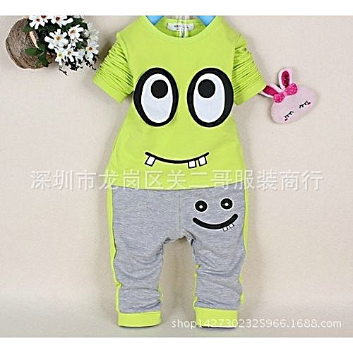 d70546eca Generic New Style 2PCS Baby Boys Girls Infant Suit Kids Long Sleeve ...