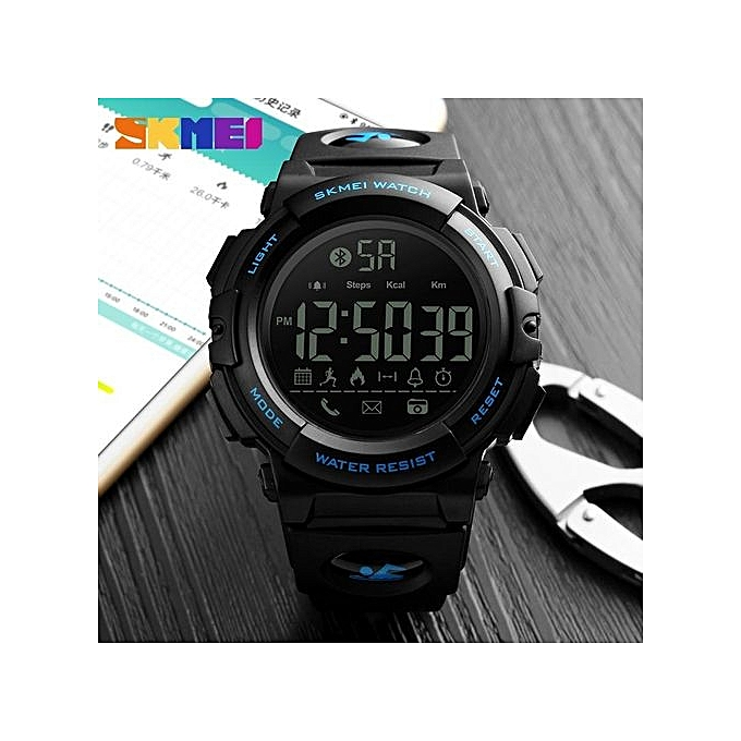 06832deb694 SKMEI Men Sports Smart Watches 50M Waterproof Pedometer Calories Bluetooth  Remote Camera Watches Relogio Masculino 1303