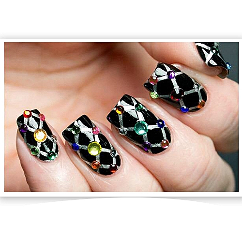 Hot Nail Art Rhinestones Crystals Acrylic Tips Decoration Manicure Wheel Diy Multicolor