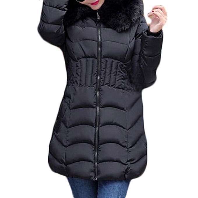 847f98365b50 Fashion Women s Winter Slim hooded Long Padded Down Jacket Coat Plus ...