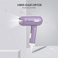 Mini Portable Foldable Hair Dryer 450W Low Power Dormitory Blow Dryer with 2 Wind Speed Settings