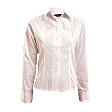 White Long Sleeved Blouse With Gathers