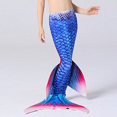 Fashion Fin Blue Mermaid Tail Monofin Swimmable Tail Kids Girls Women  Swimming Costumes 130 98a9695e33c5