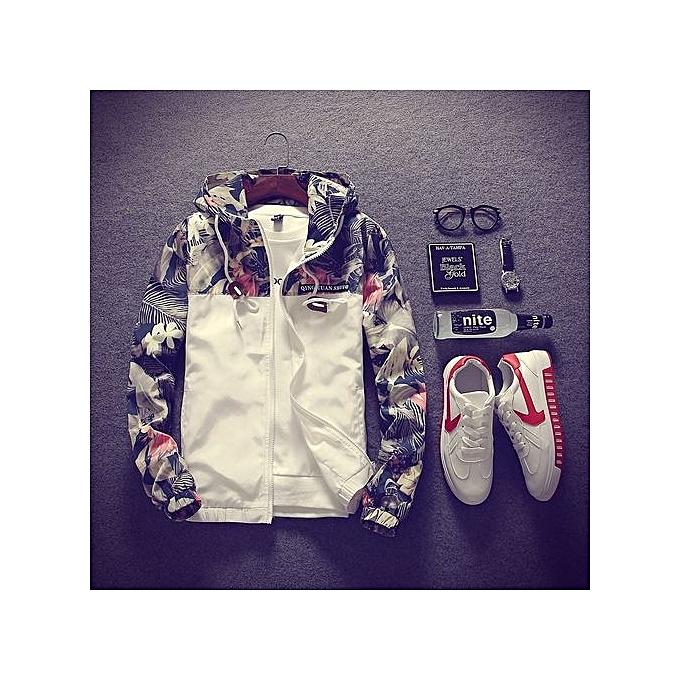 f2e21e7759f7a Hot Stuff Floral Bomber Jacket Men Hip Hop Slim Fit Flowers Pilot Bomber  Jacket Coat Men s