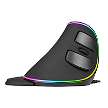 Delux M618 Plus RGB Vertical Mouse IntelliSense Breathing Light Wired Mouse WWD
