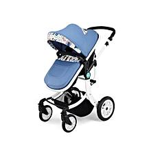 Unisex Explosion-proof Wheel Baby Stroller -Blue