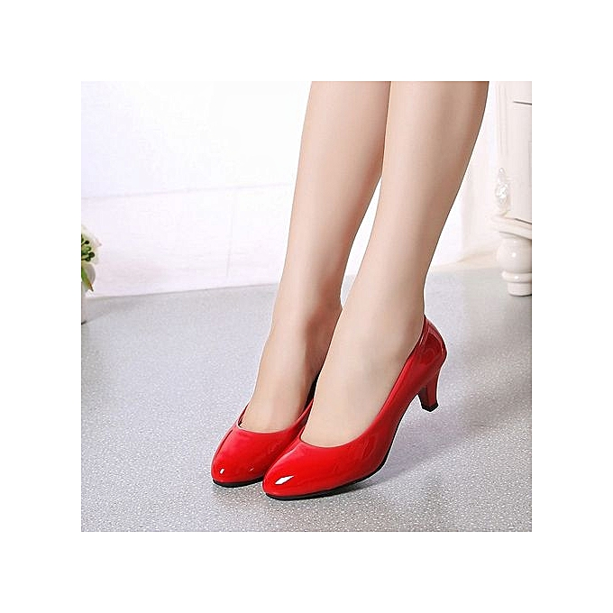 4e87f2cd080f ... Nude Shallow Mouth Women Office Work Heels Shoes Elegant Ladies Low Heel  RD 35 ...