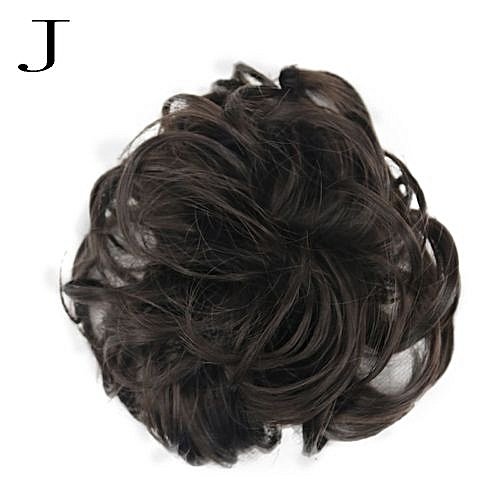 Women s Curly Messy Bun Hair Twirl Piece Scrunchie Wigs Extensions  Hairdressing-Multicolor - Multicolor 3e19d1cf16