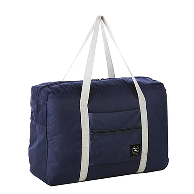 IPRee Portable Travel Storage Bag Waterproof Polyester Folding Luggage  Handbag Pouch Dark Blue 41152761d2e73