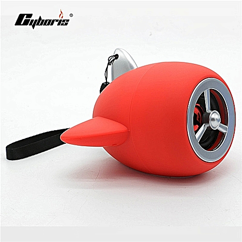 CYBORIS Loudspeaker Mini Aircraft Propeller Design Portable Speaker For  Samsung Iphone Mp3 As Children Gift(red) LANGL