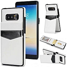 Shockproof Leather Case with Card Holder Premium PU Leather Kickstand Magnetic Clasp Durable Wallet Case Cover for Samsung Galaxy Note 8   XXZ-Z