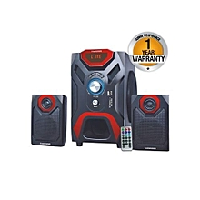 MP-66 Multimedia Speaker System with Bluetooth FM Radio, Black.
