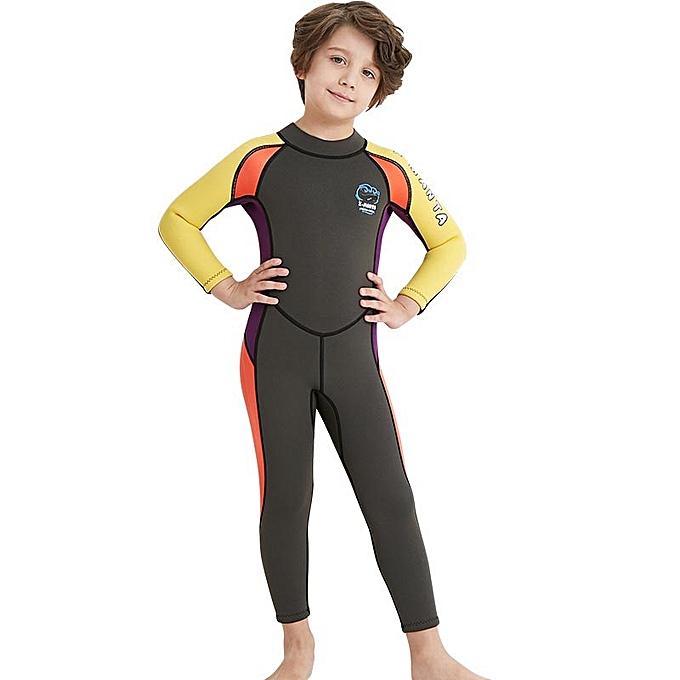 ac03b19b28ca7 Winter 2.5MM Neoprene Children Boys Wetsuit One Piece Swimwear Thick Warm  Diving Snorkeling Wet Suit ...