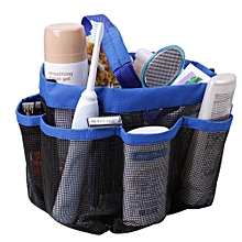 8-Pocket Portable Shower Tote Storage Organiser Mesh Shower Caddy Quick Dry Shower Tote Perfect , Blue