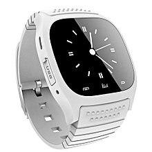 Smartwatch Waterproof Bluetooth Smart Watch With LED Alitmeter Mp3 Player Pedometer For Iphone Android Phone White