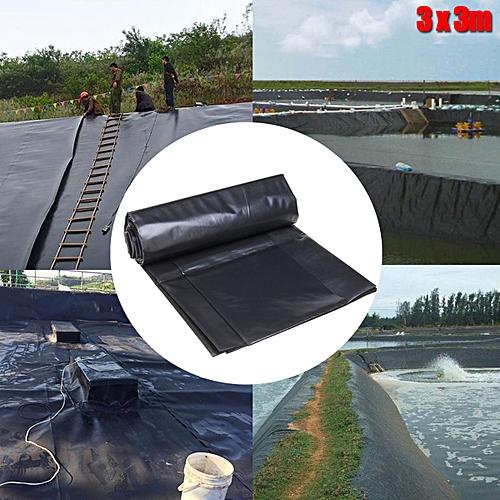 Black Fish Pond Liner Gardens Pools HDPE Membrane Reinforced Landscaping 3  Sizes-2x2m