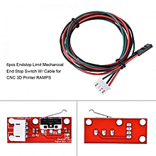 Mechanical Endstop Limit Switch Accessories Kits With Cable For 3D Printer RAMPS 1.4