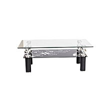 Glass Coffee Table - Model CG-808-PB - Clear Top