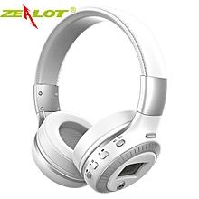 ZEALOT B19 Bluetooth Headset / SD Card / FM Radio - White