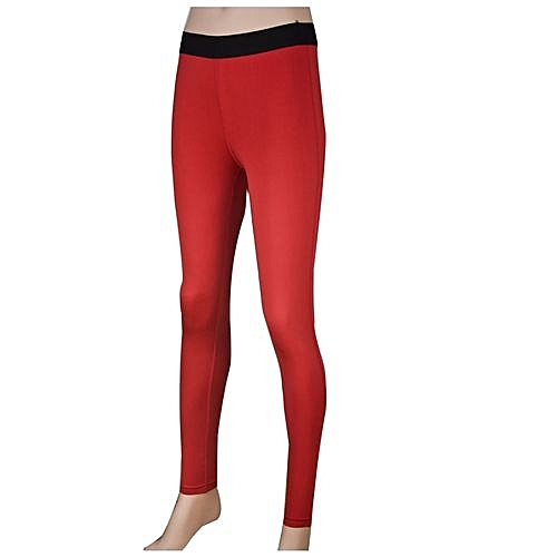 6bb8790576e06 Generic Women Workout Base Layer Compression Tights Yoga Pants Gym Fitness  Running Sports Leggings Quick Dry - Red