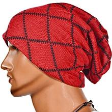Unisex Women Men Knit Cap Winter Warm Ski Crochet Slouch Hat Oversized Beanie US Red