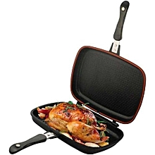 Die Cast Double Sided Made in Italy Grill  Pan 40cm - Black