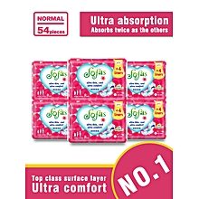 Fofas Sanitary Pad Normal (240MM) 9 Pads (COUNT 54)