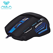 OFFICIAL GHOST SHARK Optical Wired 7 Colors Backlight Gaming Mouse (Black) HT