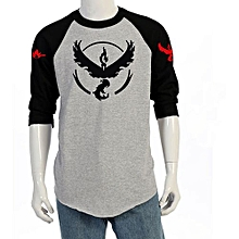 Men's 7/10 Sleeve Cotton Casual T Ops T-shirt(Color:Main Pic)