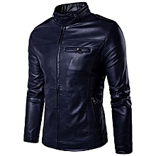100% Leather Spring Men's Genuine Leather Plus Size Jackets Real Sheepskin Black Male Genuine Leather Jacket For Men -navy