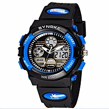 Electronic Digital-watch Sport Wrist Watch Luxury LED Digital Watches Men Top Brand Famous Male Clock(Blue)