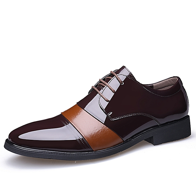 f4059b5075b Tauntte Men Dress Shoes England Style Business Wedding Shoes (Brown ...