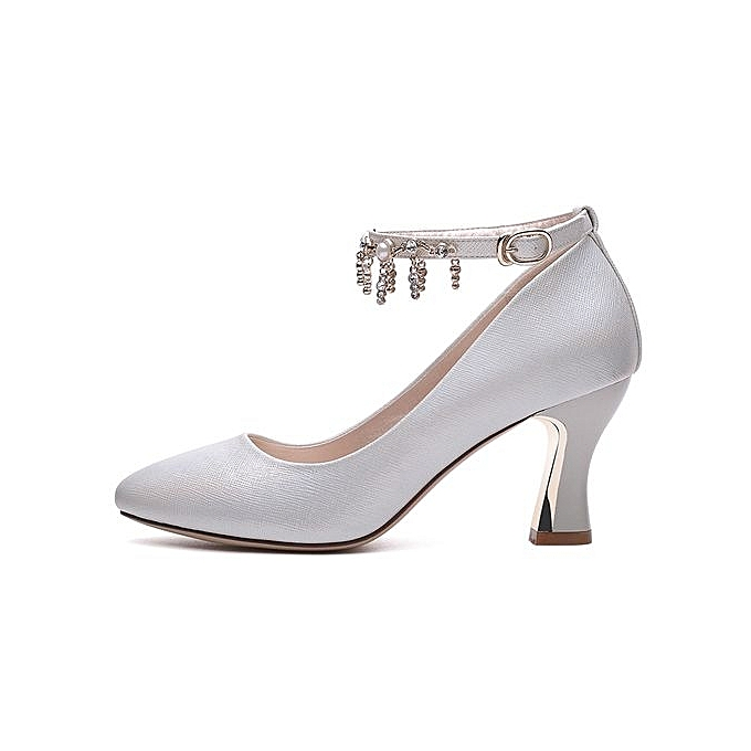 d20b0dc91 ... 6182 Fashion Women Elegant Heel Shoes Ladies Leisure Office Ankle Strap  Buckle Pumps Girls Sweet Nude