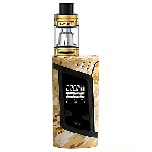 Smok Alien Kit with 3ml TFV8 Baby Tank Atomizer and Alien 220W Box Mod Vape  Electronic Cigarette Starter kit Vaporizer Yellow