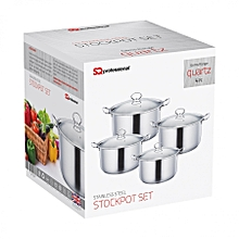 Stainless steel cooking pots 4pc set