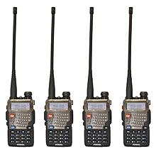 (4pcs) Baofeng UV-5RE 5W 128CH VHF/UHF Dual Band Two Way Walkie Talkie(Black)