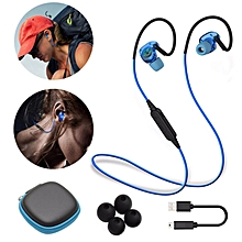 LEBAIQI BX240 In-Ear Wireless Bluetooth Headphones IPX5 Waterproof Sport Music Headset Stereo Earphone With Microphone (Blue)