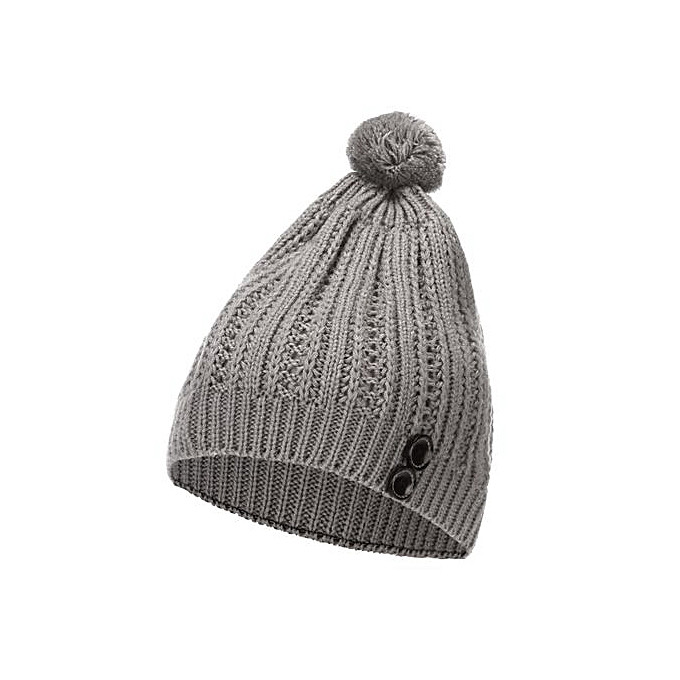 e886de58 Wenrenmok Store Women Autumn Winter Beanie Hat Knitting Wool Warm Hats  Earmuffs Hat-Gray