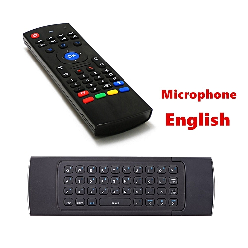 2 4G Mini Keyboard MX3 Air Mouse with microphone voice search For Android  Smart TV box window pc remote control ASQOB