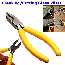 Breaker Grozing Pliers Grozier 3/8 Inch Fanout Curved Jaw for Stained Glass Work