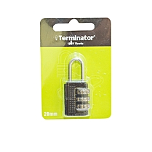 TPL 2320/BL - Padlock with Sealed Blister Packing (20mm) - Black