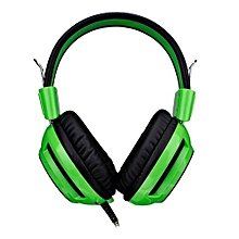 Headphone Gaming, JD-V1 Deep Bass Stereo Surround Sound Over-Ear Game Headphone(Green)