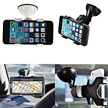 Smartphone In Car Windscreen Suction Mount Holder - Black