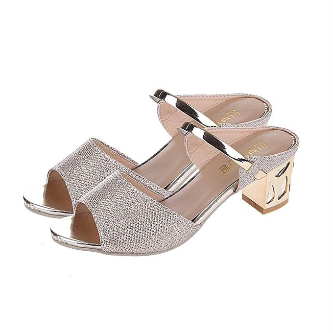 cd187944cb0e TB Women Casual Sandals Soft PU Platform Wedges Thick Mid-heeled Shoes Peep- toe