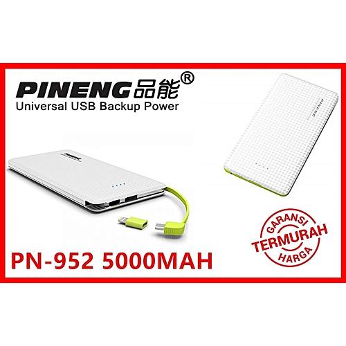 Genuine Pineng Powerbank PN952 5000mAH - White PN 952 PN-952 BGmall
