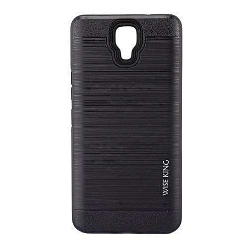 finest selection 02db0 563c5 Back Cover For Infinix Note 4 (X572) - Black With Metal Finish