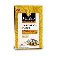 Melvins Cool Cardamon 25 enveloped and tagged tea bags