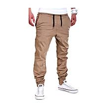 Khaki Mens Casual Jogging Pants Slacks Trousers Sweatpants