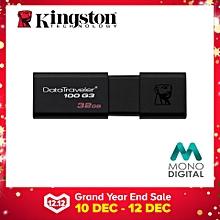 Kingston 32GB DataTraveler 100 G3 USB 3.0 Flash Drive Pendrive (DT100G3/32GB) (Black) LJMALL