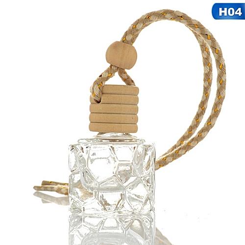 Glass Clear Refillable Car Fragrance Perfume Air Freshener Hanging Bottle Car Perfume Empty Bottles Air Freshener Interior Accessories